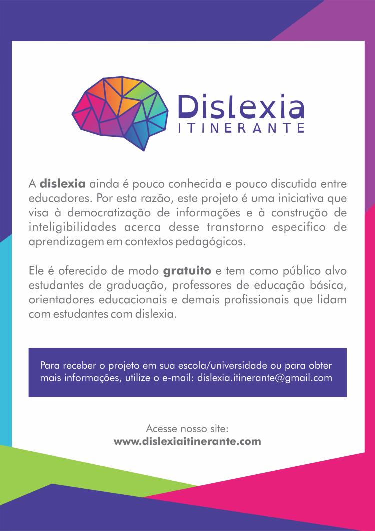 dislexia itinerante cartaz
